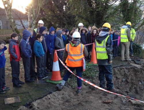 6th class get to visit the building site